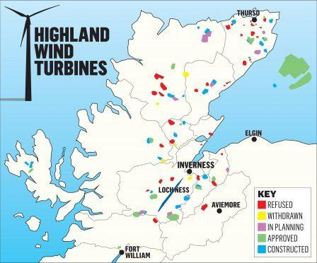Map Of Uk Highlands.Highlands Windfarm Map Explained Press And Journal