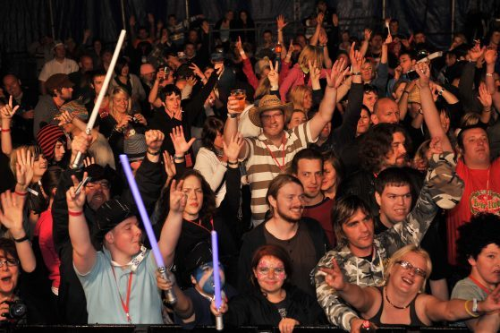 Supergrass fan enjoying the show in 2008.
