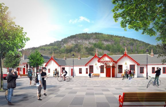 Artist's impressions of the Old Royal Station Ballater