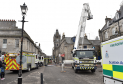 Fire crews took more than three hours to bring the blaze under control