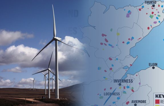 new map shows true scale of spread in windfarms in highlands press and journal