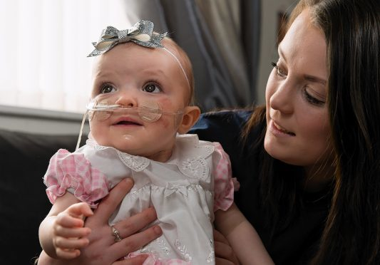 Baby Alannah with mum Lauren