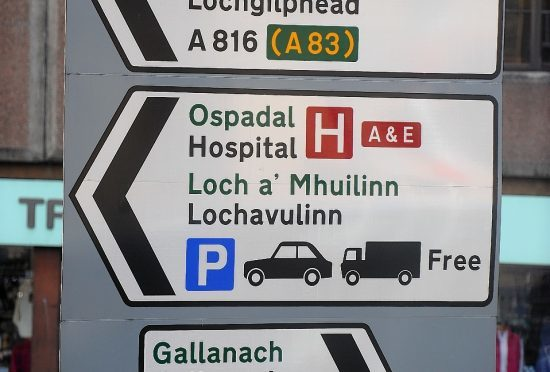 Road signs will now be written in Gaelic and English , similar to what you find in other parts of the country