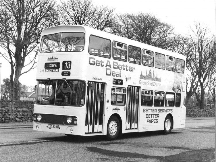 Grampian bus heading to Cove