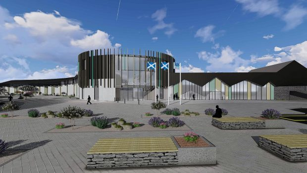 Artist's impression of the proposed Inverness jail.