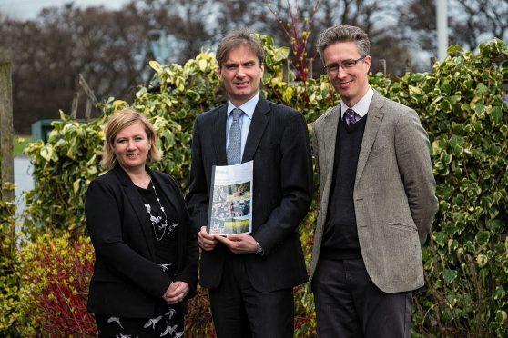 Sarah-Jane Laing, David Johnston and Andrew Midgley from Scottish Land and Estates.