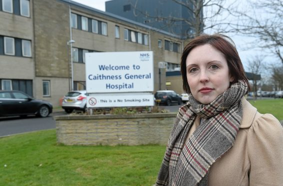 Health campaigner - and Highland councillor -  Nicola Sinclair.