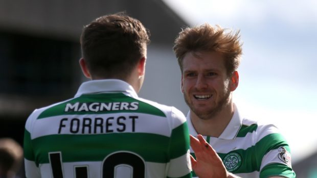 Stuart Armstrong, right, deserves his Scotland call-up, says Celtic boss Brendan Rodgers