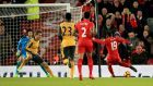 Sadio Mane, right, was on target against Liverpool