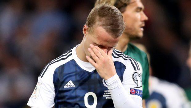 Scotland's Leigh Griffiths endured a frustrating night at Hampden Park