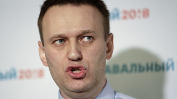 Russian opposition leader Alexei Navalny joked on Twitter that he was set to star in The Mask (AP)