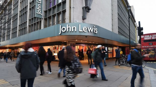 The John Lewis store on Oxford Street in London