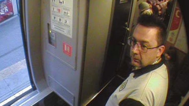 Undated handout CCTV grab issued by British Transport Police of a man the police want to speak to after a toddler was allegedly assaulted on a train between Edinburgh Waverley and Peterborough