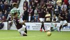 Scott Sinclair scored on his Celtic debut at Tynecastle
