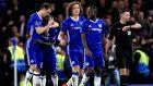 Chelsea's N'Golo Kante, second left, celebrates scoring against Manchester United