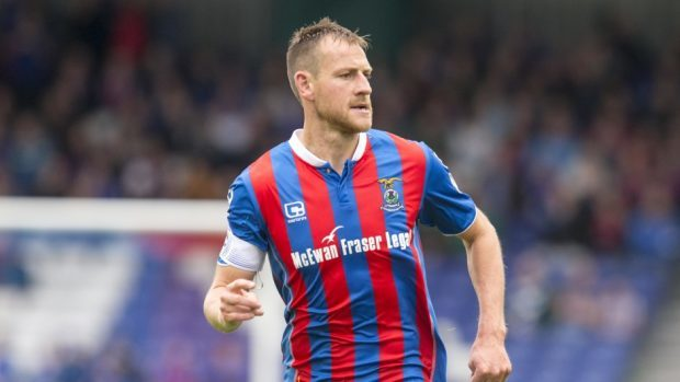 Gary Warren was sent off for Inverness