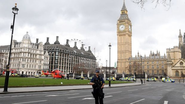 Flags lowered in memory of police officer killed in London attack