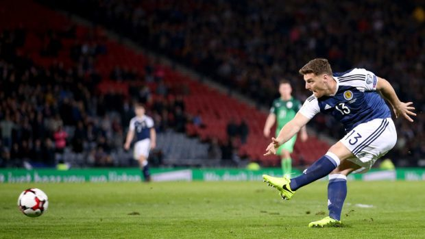 Chris Martin scored a dramatic winner for Scotland against Slovenia