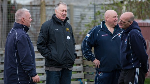 Sir Geoff Hurst, second left, wants England to have a regular captain