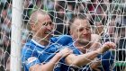 Rangers' Clint Hill, right, and Kenny Miller, left, are both out of contract this summer