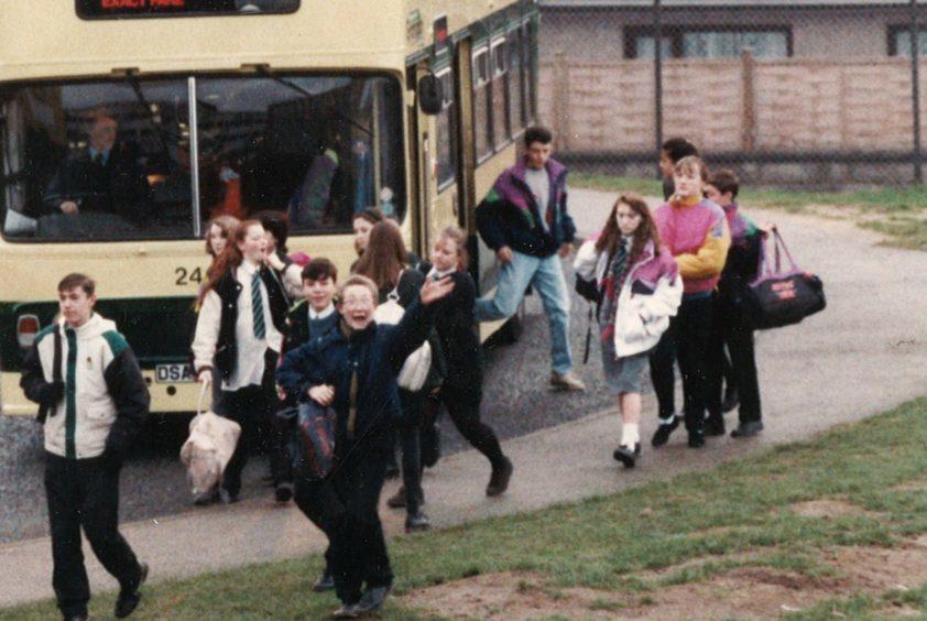 Pupils arrive at Cults Academy