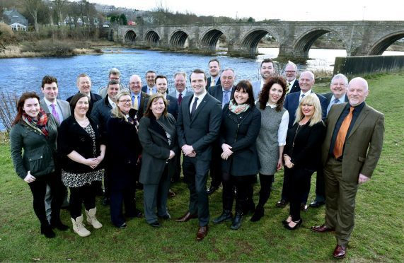 The SNP put forward 25 candidates in the coming election. They are pictured at Bridge of Dee. (front, from left)  Catriona Mackenzie, Pamela McBain, Gill Samarai, Jackie Dunbar, Stephen Flynn, Lauren Wards, Jessica Mennie, Alison Alphonse, Gordon Townson. (back, from left) Michael Hutchison, Alex Nicoll, Derek Davidson, Jim Noble, Dell Henrickson, Christian Allard, Ciaran McRae, Bill Cormie, Alexander McLellan, Neil Copland, Joshua Mennie, John Cooke, David Cameron and Neil MacGregor. Picture by COLIN RENNIE