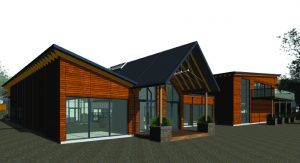 An artists impression of how the rebuilt Heather Centre will look