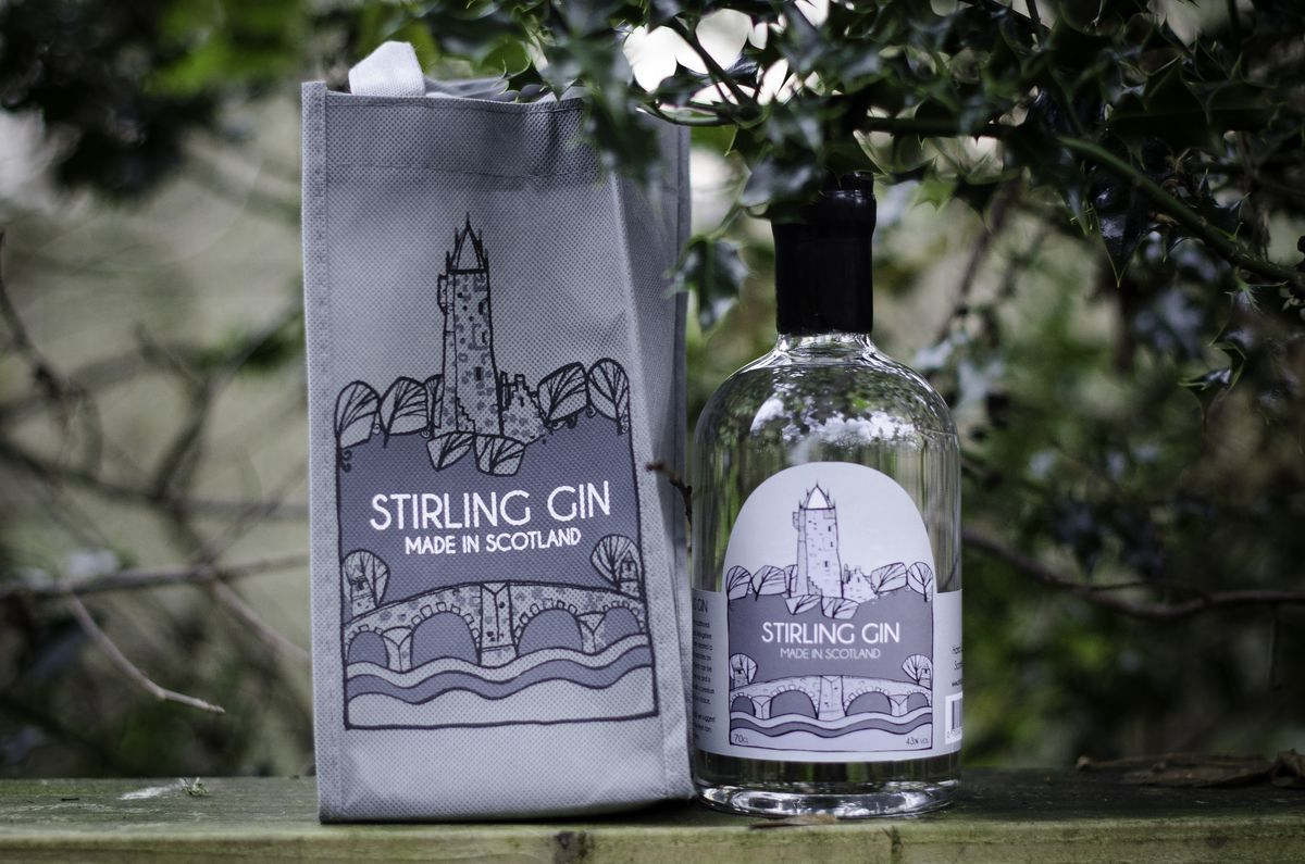Stirling Gin bottle and bag resized