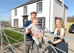 The Hewitt family have become the first residents of Tornagrain