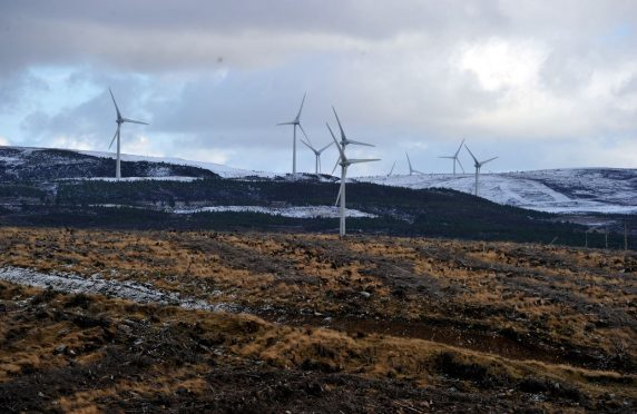 The proposed Clash Gour turbines could be built in pockets around the Berry Burn Wind Farm.