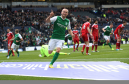 Dylan McGeouch of Hibernian celebrates