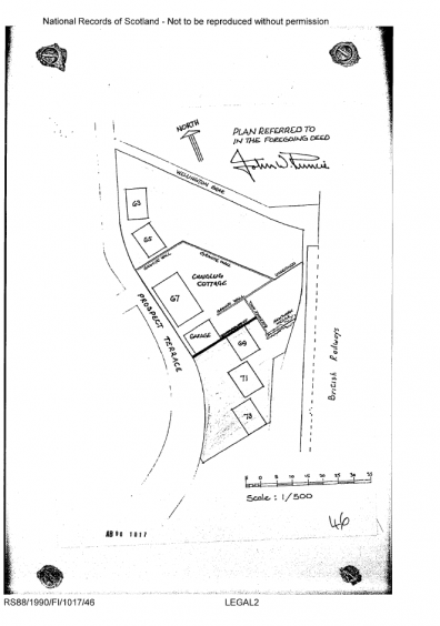 Disposition in favour of Marion Young recorded 21 Jun 1990 (including plan)