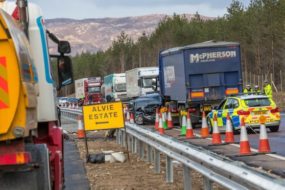 This is the scene on the A9