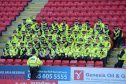 There was a heavy police presence for the clash at Pittodrie in September