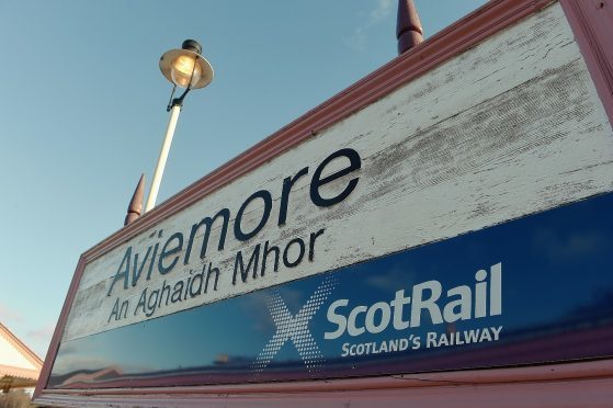 A person has died after being hit by a train near Aviemore.