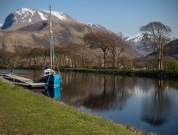 Ben Nevis from the Caledonian Canal at Corpach pic by Sue Restan