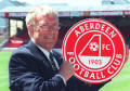 Ebbe Skovdahl at press conference at Pittodrie