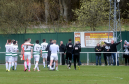 Buckie Thistle players and fans at full time