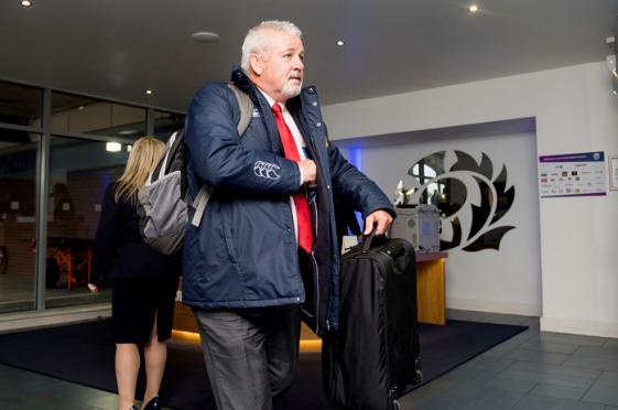Lions coach Warren Gatlland arrived in Edinburgh to make his squad announcement