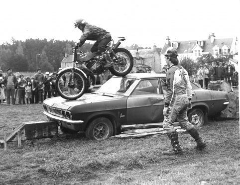 Fort William motorcyclist Scott McWilliam at Carrbridge Celildh Week, 1982