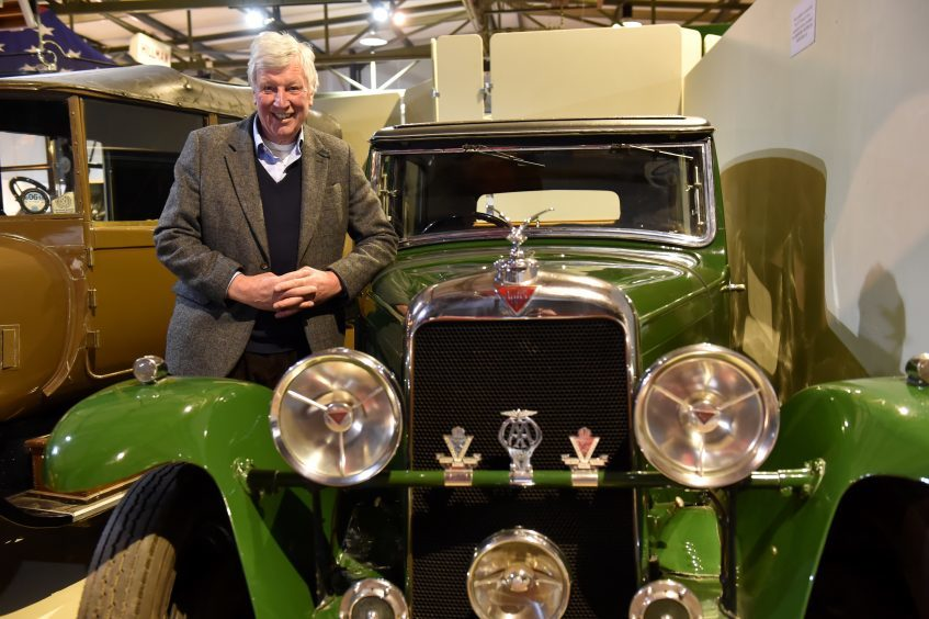 The Lord-Lieutenant of Aberdeenshire, Mr James Ingleby at Grampian Transport Museum.