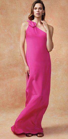 Hobbs Rosalie Maxi Dress, £299; Holly Double Strap Sliders, £129; Sadie Earrings, £22 (www.hobbs.co.uk)