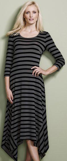 JD Williams Stripe Asymmetric Jersey Hanky Hem Dress, £35 (www.jdwilliams.co.uk)