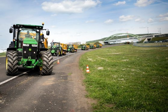 Tractors at last year's contest