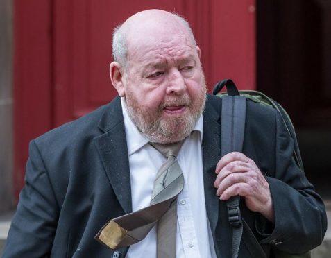 John Morrison leaving Elgin Sheriff Court