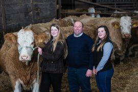Laura, Iain and Jemma Green of Corskie Farm