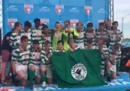 VIDEO: Watch Aberdeen youth team Lewis United celebrate European success