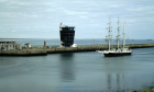 The enormous tall ship has arrived in Aberdeen