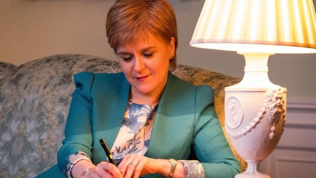 The First Minister Nicola Sturgeon a