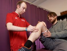 Inverness College soft tissue treatment.